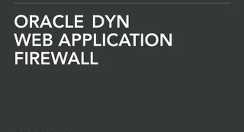 Solution Brief: Oracle Dyn WAF