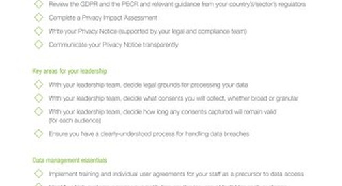 GDPR Data and Tech Checklist