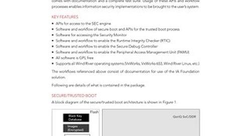 Information Assurance Foundation Datasheet
