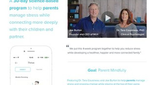 Product Brief: Our Targeted Wellbeing Program for Mindful Parenting