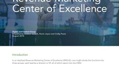 Part 4: Revenue Marketing Center of Excellence – Content and Digital Group