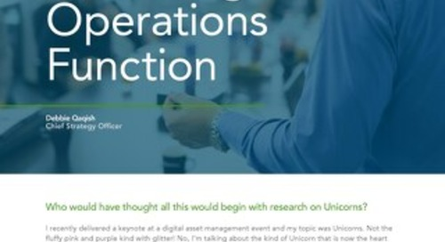 Rise of The Marketing Operations Function