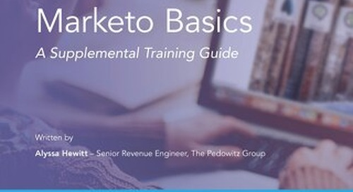 Marketo Supplemental Training Guide