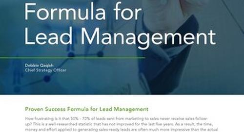 Proven Success Formula for Lead Management