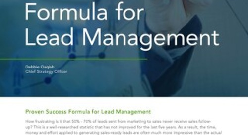 Proven Success Formula for Lead Management
