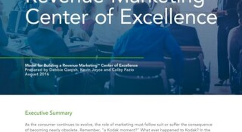 Part 1: Revenue Marketing Center of Excellence – Introduction