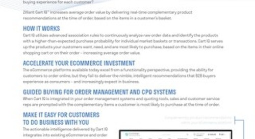 Zilliant Cart IQ: Predictive Sales Analytics Software