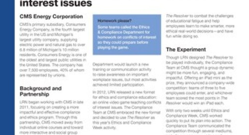 LRN Case Study: CMS Energy