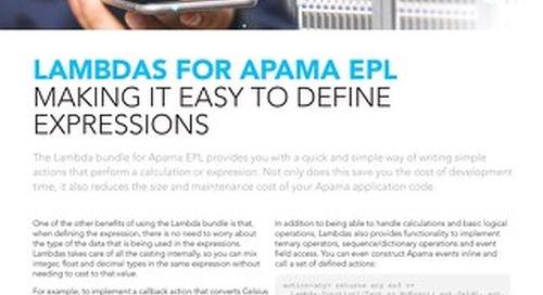 Lambdas for Apama EPL