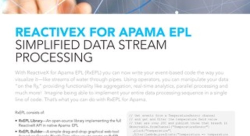ReactiveX for Apama EPL