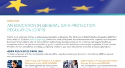 Gearing Up for GDPR
