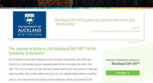 University of Auckland | Blackbaud SKY-API