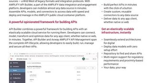 AMPLIFY™ API Builder