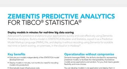 Zementis for TIBCO® STATISTICA®