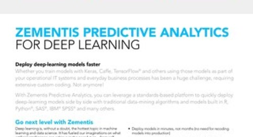 Zementis for Deep Learning