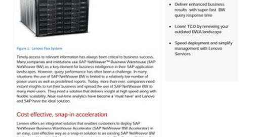 Flex System Solution for SAP NetWeaver Business Warehouse Accelerator