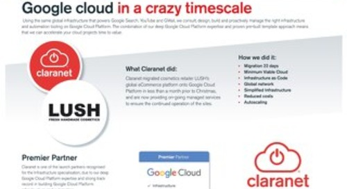 Google cloud in a crazy timescale