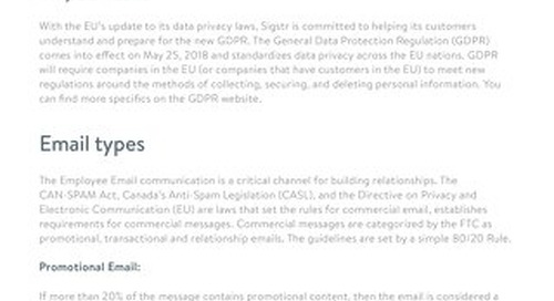 GDPR and Employee Email Signatures