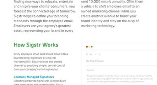 Sigstr for Digital Marketing Agencies