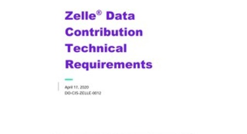 Zelle Data Contribution Technical Requirements
