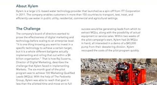 Case Study: Xylem Digital Marketing