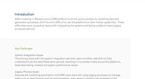 Case Study: D+H Optimizing Marketing Process and Technology