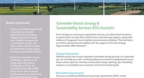Australia Cleantech Cutsheet
