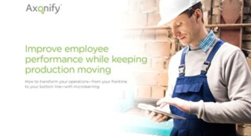 Improve employee performance while keeping production moving