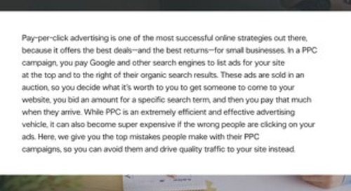Top PPC Mistakes