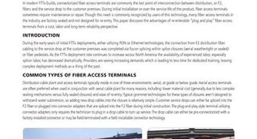 Re-enterable Plug and Play Fiber Access Terminals