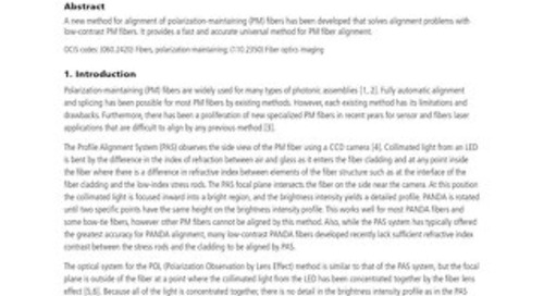 Interrelation Profile Analysis Method for Alignment of Polarization-Maintaining Fiber