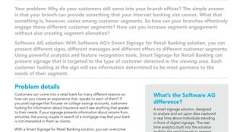 Smart Signage for Retail Banking
