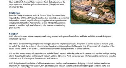 IP Security Design, Installation and Training for Water and Wastewater Treatment Plants