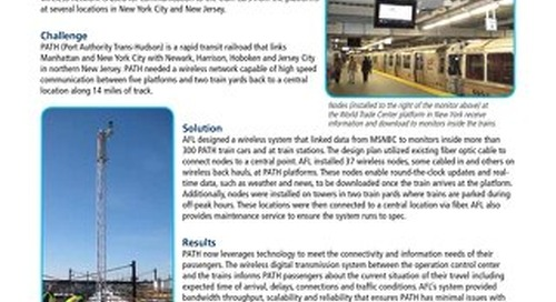 AFL Designs and Installs Wireless Network to Provide News to PATH Train Passengers