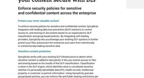 Syncplicity: keeping your content secure with DLP