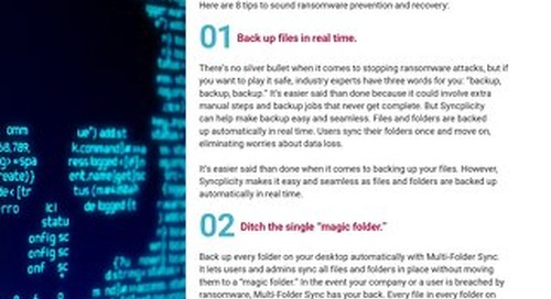 8 ways to Help Keep Ransomware from Holding your Digital Files Hostage