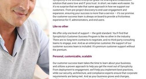 Syncplicity Customer Success Program