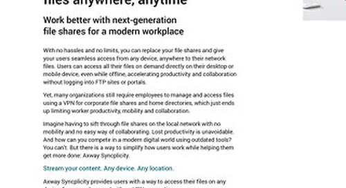 Stream your Enterprise Files: Anywhere, Anytime