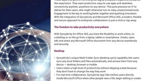Axway Syncplicity + Microsoft. Greater productivity has a Name – or Two.