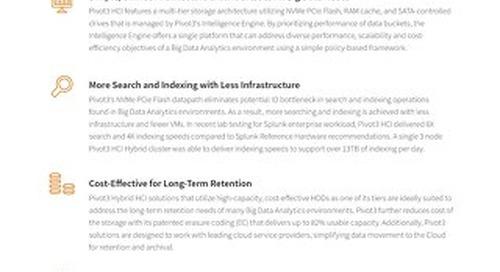 [Infographic] Top Reasons to Deploy Big Data Analytics on Pivot3