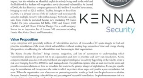 EMA Vendor to Watch: Kenna Security