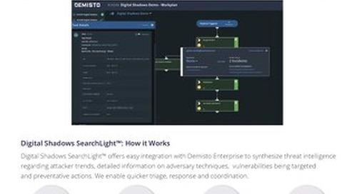 Digital Shadows Demisto Integration Datasheet
