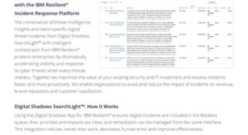 SIEM: IBM Resilient Integration Datasheet