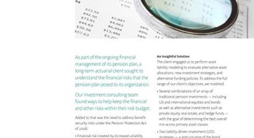 Asset Liability Management Plan Sponsor