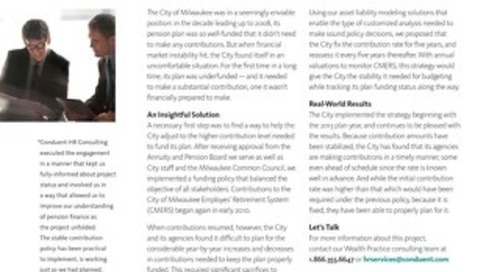 Acturial Services: City of Milwaukee