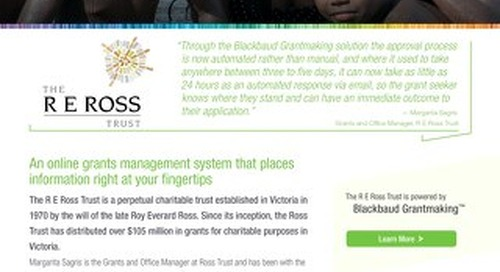 R E Ross Trust & Grantmaking