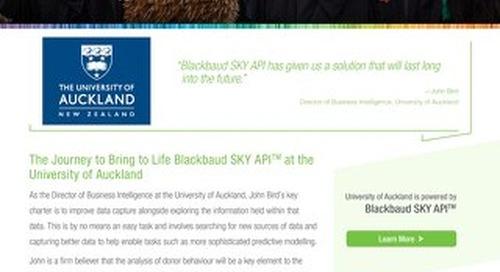 University of Auckland & SKY API