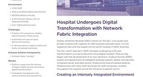 Hospital Undergoes Digital Transformation with Network Fabric Integration