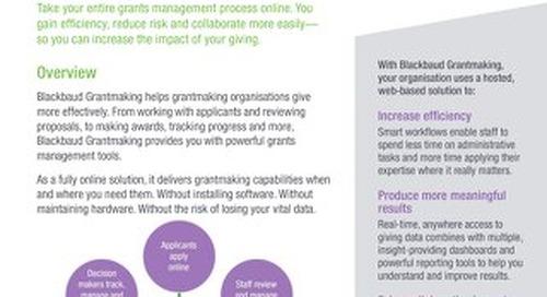 Blackbaud Grantmaking Datasheet