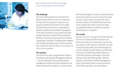 Case Study: South Dakota Department of Health